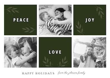 Peace Joy Love - Christmas Card