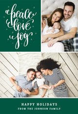 Peace Love Joy - Christmas Card