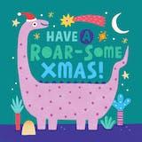 Roar-some Xmas - Christmas Card