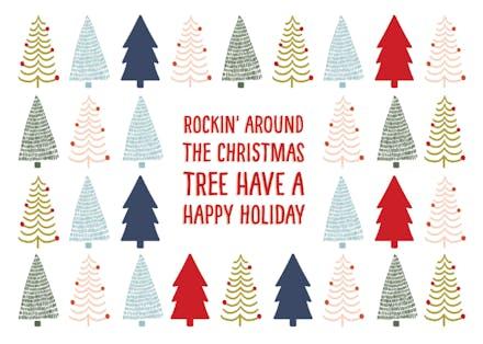 Rockin Around Christmas Tree.Rockin Around Christmas Card Free Greetings Island