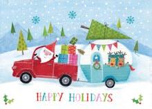 Santas caravan - Holidays Card