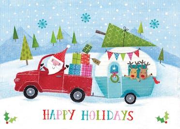 Santas caravan - Card