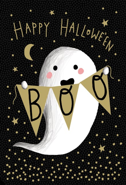 Effortless image regarding printable halloween card