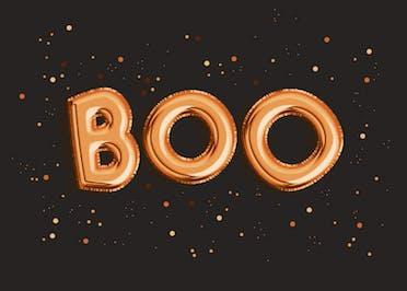 Bootiful Balloons - Halloween Card