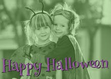 Horror Photo - Halloween Card