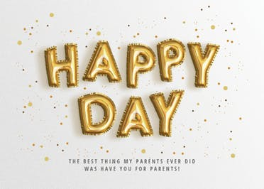 Because, Balloons - Grandperants Day Card