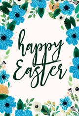 Blue & Orange - Easter Card