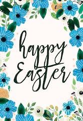 Blue & Orange - Printable Easter Card