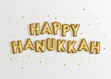 Brilliant Balloons - Hanukkah Card
