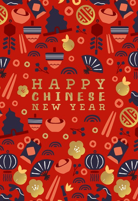 Chinese New Year Cards Free Greetings Island