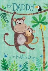 Daddy Monkeys - Father's Day Card