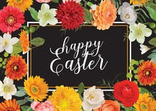 Easter Garden - Easter Card
