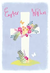 Floral cross - Easter Card