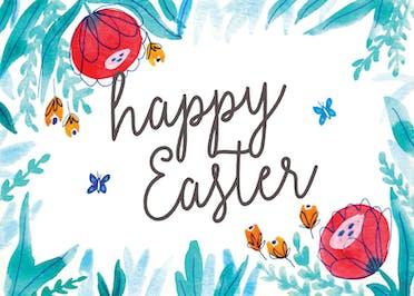 Floral Easter - Easter Card