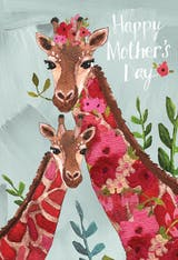 Floral Giraffe - Mother's Day Card