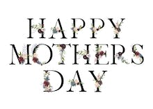 Floral Letters - Mother's Day Card