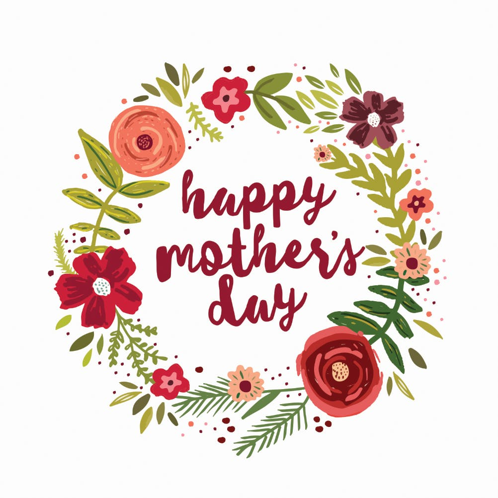 Floral Love Mothers Day Card