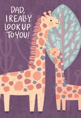 giraffe father's day - Father's Day Card