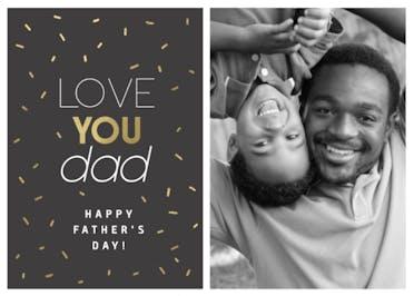 Golden Dad - Holidays Card