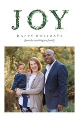 Leafy Joy Photo - Holidays Card