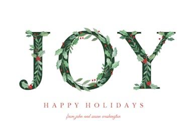 Leafy Joy - Holidays Card