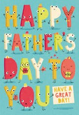 Lively Letters - Father's Day Card