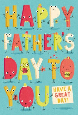 Lively Letters - Fathers Day Card