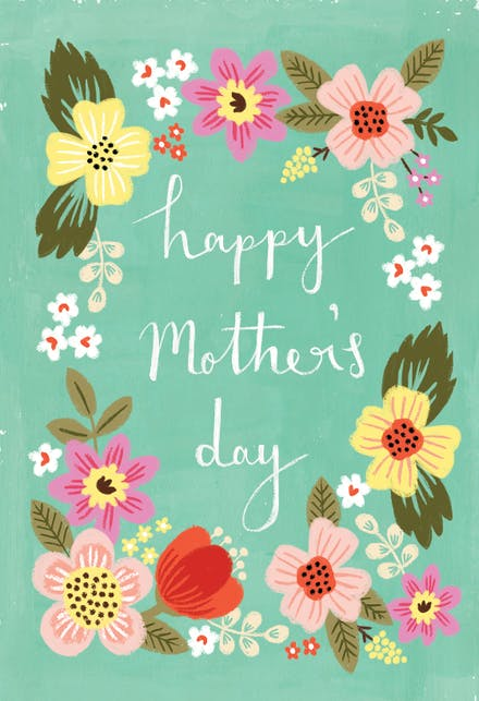 Mom S Garden Mother Day Card Free