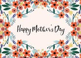 Orange floral - Mother's Day Card