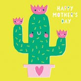 Paper cut cactus - Mother's Day Card