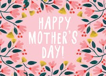 Pink Floral - Mother's Day Card