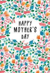 Pink Leaves - Mother's Day Card