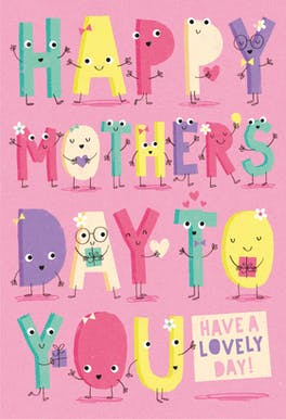 Spelled Out - Mother's Day Card