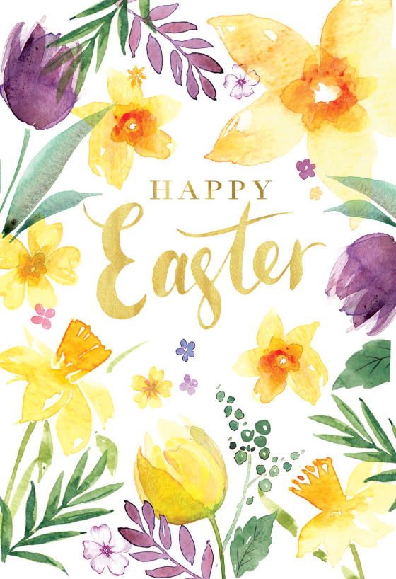 Brunch Ideas For Easter: Spring Beauties - Easter Card (Free)