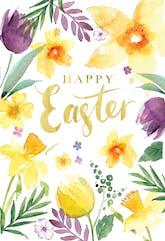 Spring Beauties - Printable Easter Card