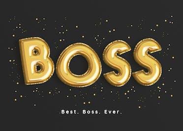 Top Notch Balloons - Boss Day Card