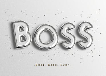 Top Notch Balloons - Boss Day Card