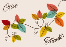 Graceful Gratefulness - Thanksgiving Card