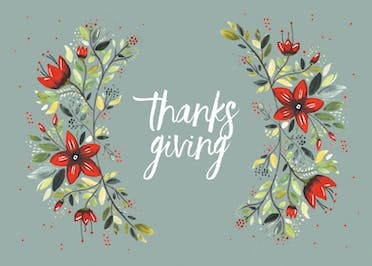 Grateful today - Card