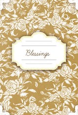 Floral Thanksgiving Blessings - Thanksgiving Card