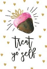 Chocolate Strawberry - Valentine's Day Card