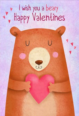 Huggy Heart - Valentine's Day Card