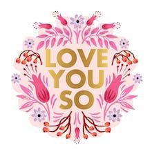 Garden Medallion - Valentine's Day Card