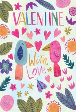 Lovebirds - Valentine's Day Card