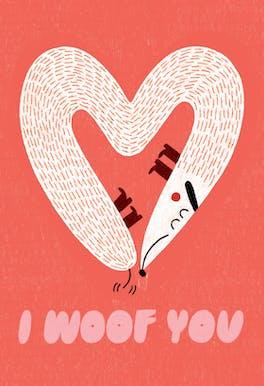 Luff You - Valentine's Day Card