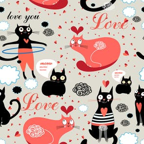 Purrfectly Lovely - Printable Valentine's Day Card