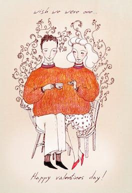 Wish We Were One - Printable Valentine's Day Card