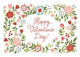 Bowers of Flowers - Valentine's Day Card