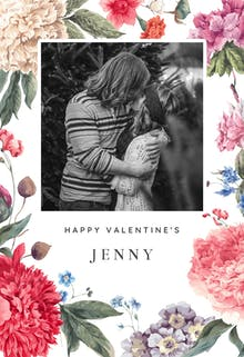 Garden Glory - Valentine's Day Card