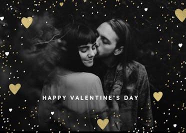 Hearts & Glitter - Valentine's Day Card